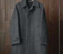 Phlannel|Arles Wool Balmacaan Coat #Navy Gray