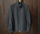 Phlannel|Arles Wool Driving Blouson #Navy Gray