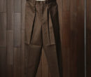 MARKAWARE CLASSIC FIT TROUSERS #BROWN