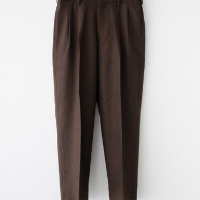 marka|2TUCK COCOON FIT #TOP BROWN